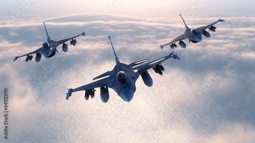 Night fighters Canvas Print