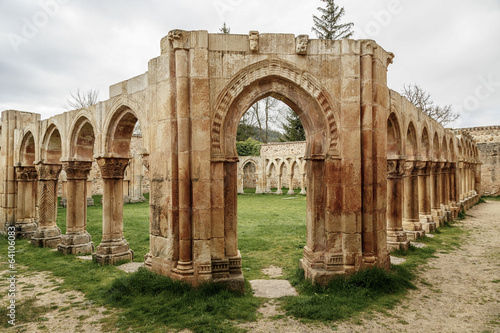 San Juan cloister ruins at Soria in Castilla Spain