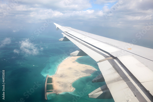 Fotografie, Obraz  Aerial view of an artifical Island in the Persian Gulf