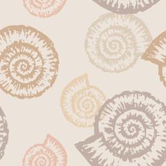 Panel Szklany Podświetlane Marynistyczny pattern of nautilus