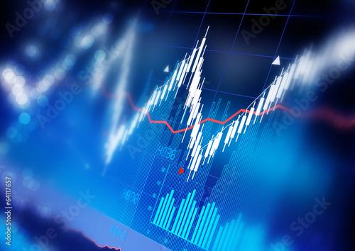 Fotografía  Stock Market Graphs