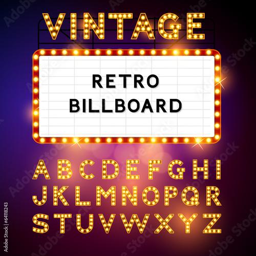 Retro Billboard Vector Canvas Print