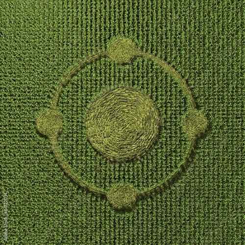 Fotografie, Obraz  3d illustration of a crop circle