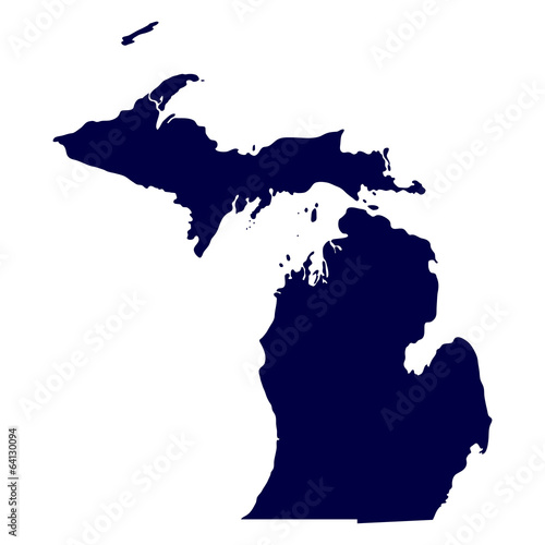 map of the U.S. state of Michigan Wall mural