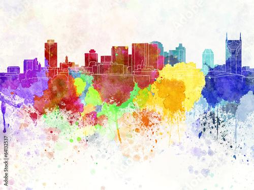 Fototapeta Kolorowa grafika miasto