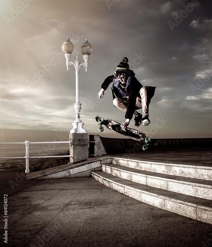 Fotografía teen skateboarder