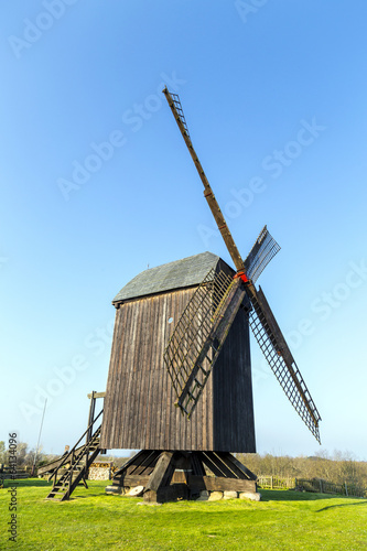 Aluminium Prints Mills Wind mill of Pudalga baltic coast, Germany