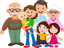 Happy Cartoon Family