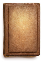 Old Book Cover, Blank Texture Empty Grunge Design On White