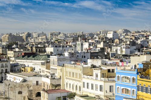 Blick ueber die Altstadtdaecher von Casablanca, Marokko
