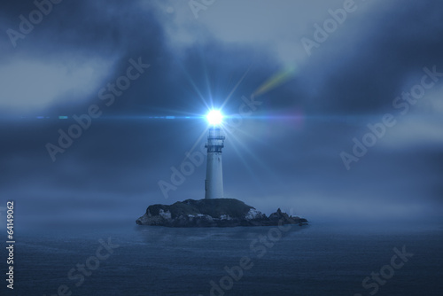 Stickers pour porte Phare lighthouse