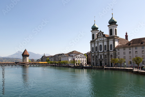 Wallpaper Mural Lucerne with Water tower and church