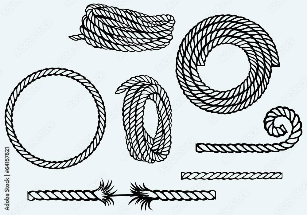 Fototapety, obrazy: Nautical rope knots