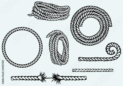 Photo Nautical rope knots