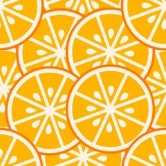 Orange slices seamless pattern
