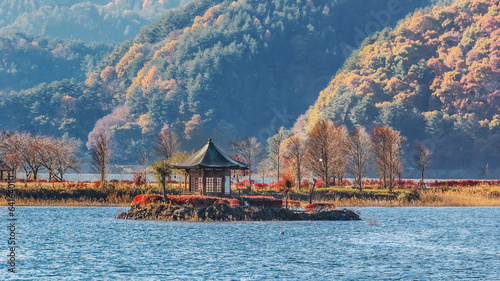 Wall Murals Place of worship Lake Kawaguchiko in Japan