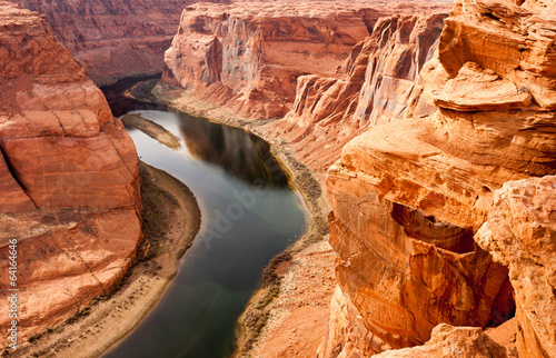 Canvas-taulu Deep Canyon Colorado River Desert Southwest Natural Scenic Lands