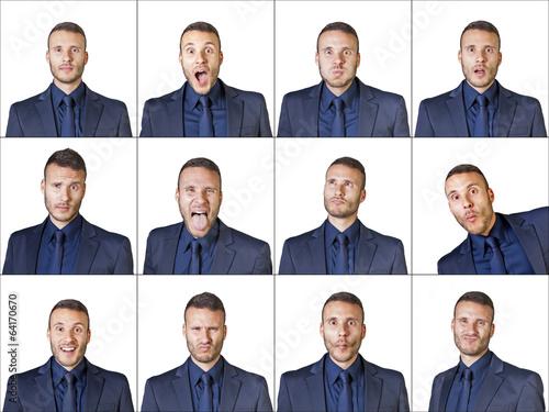 Fotografía  businessman expressions composition