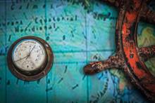 Old Vintage Barometer Together...