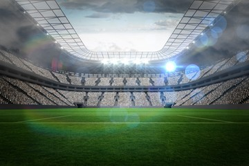 Fototapeta Large football stadium with lights