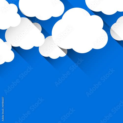 White paper flat clouds.