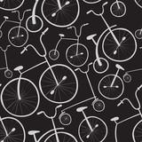 Wzór rowerów bez szwu. Rowery. Użyj do wypełnień deseniem, powierzchni - 64186841