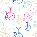 Wzór rowerów bez szwu. Rowery. Użyj do wypełnień deseniem, powierzchni - 64186844
