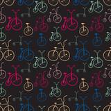 Wzór rowerów bez szwu. Rowery. Użyj do wypełnień deseniem, powierzchni - 64187041
