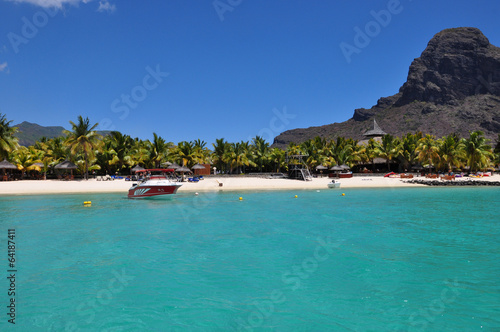 Poster South America Country Mauritius Le Morne