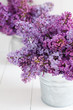 Two bouquet of lilac flowers