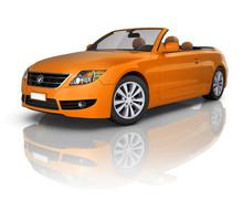 3D Orange Elegant Convertible ...