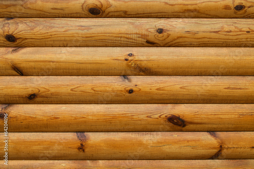 Fond de rondins de bois Poster