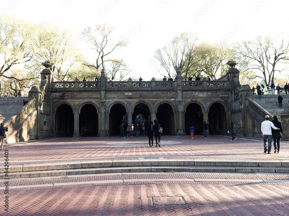 Photo  Arches of the terrace Bethesda Fountain