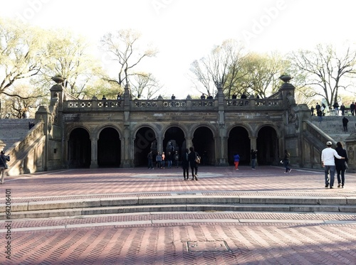 Arches of the terrace Bethesda Fountain Wallpaper Mural