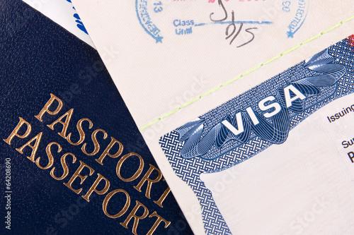 Photo  Passport and US Visa