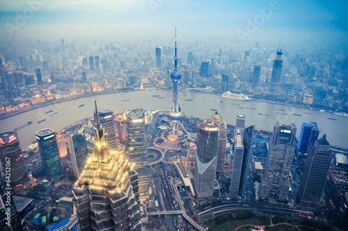 Foto op Aluminium Shanghai dusk scene in shanghai