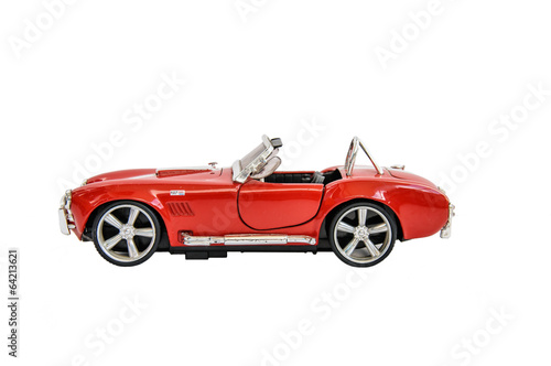 фотография  Miniature of retro red car (die cast)
