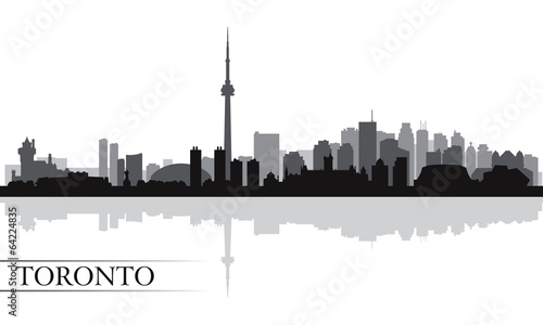 Toronto city skyline silhouette background Canvas Print