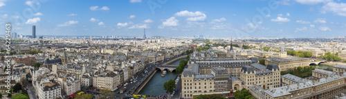 Poster Paris Parigi, vista di notre dame