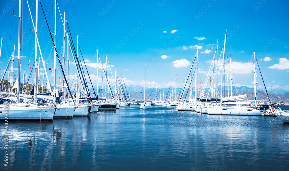 Fototapeta Sail boat harbor