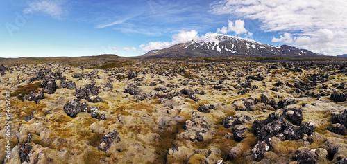 Valokuva  Volcano in West Iceland with lava field - Snaefellsjokull