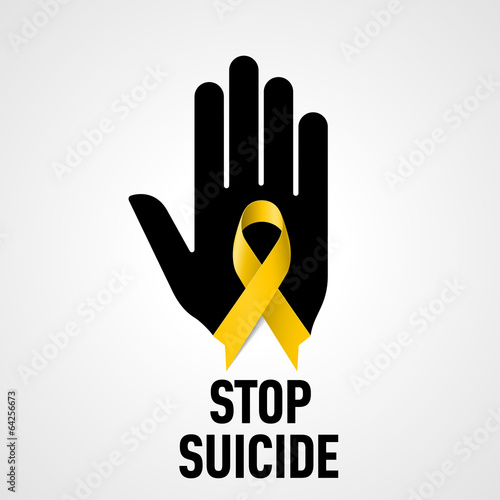 Fotomural Stop Suicide sign