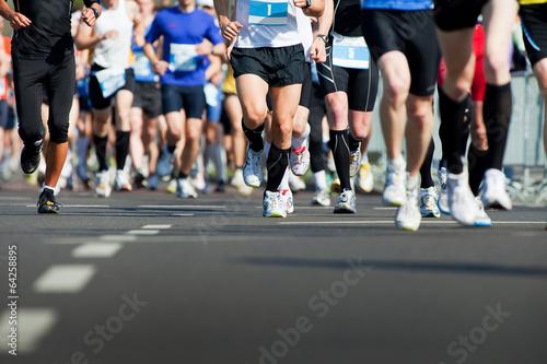 Leinwand Poster Marathon-