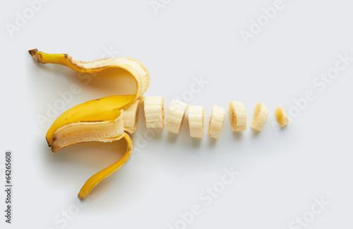 Fotografie, Obraz  Sliced banana