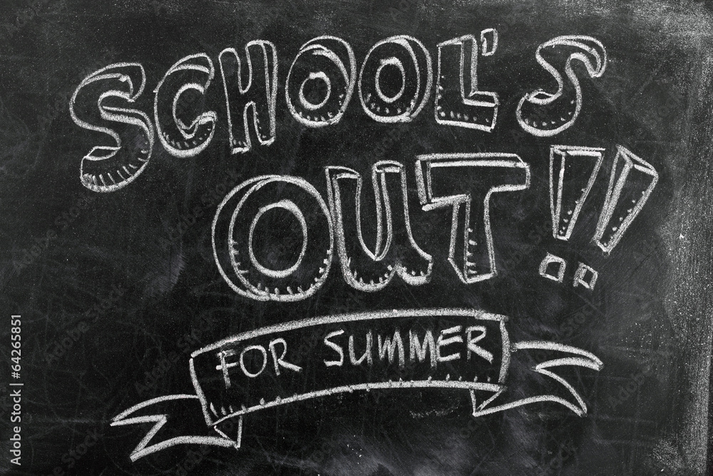 Fototapety, obrazy: School's out