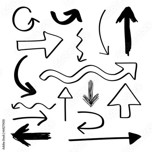 Fotografía  Hand Drawn Arrows