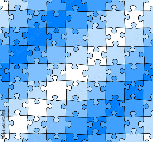 nahtloses puzzle muster - Puzzle Muster