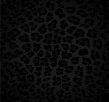 Seamless Dark Background With Leopard Pattern