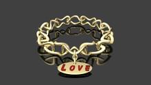 3d Gold Bracelet Pendant 2