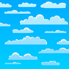 Cartoon Cloud Pattern